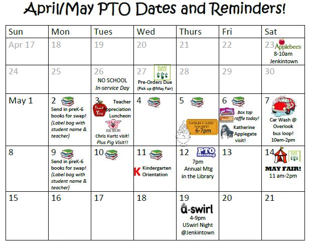 aprmay calendar