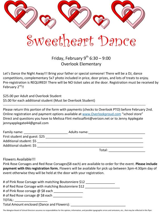 Sweetheart Dance 2018 Flyer