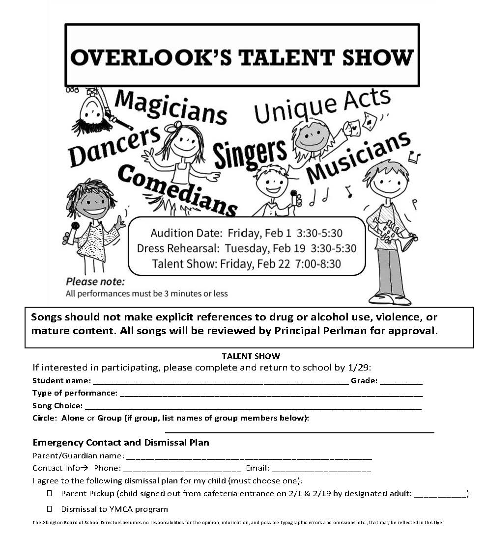 Talent Show | Overlook PTO